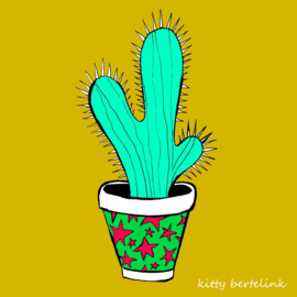 Cactus in sterretjes pot - Kitty Bertelink