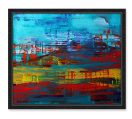 Vesuvius, abstract van Karin Heystee