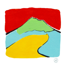 Vulkaan  Vesuvius, abstract landschap