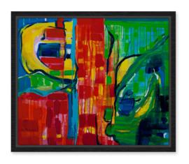 Abstract - Kunstenaar kleurt - Karin Heystee