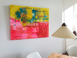 Abstract - acryl en olieverf op linnen