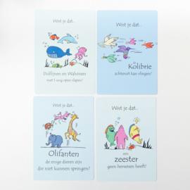 Wist je dat....postkaarten set van 4 stuks