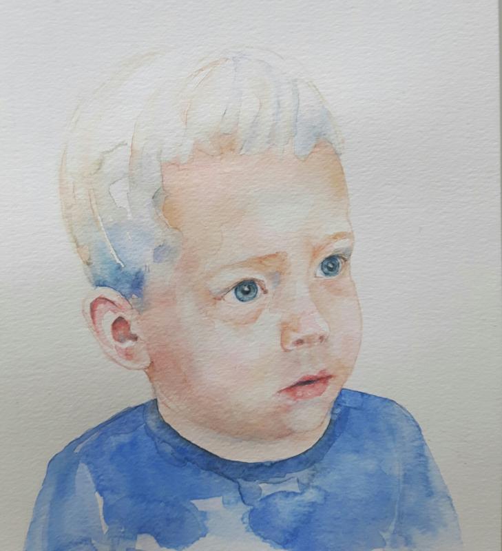 Cadeaubon portret in aquarel 20cm x 20cm