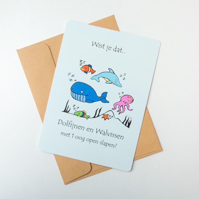Wist je dat......postkaart Walvis