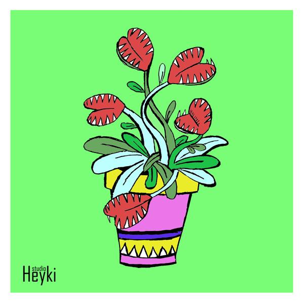 Vleesetende plant - Kitty Bertelink