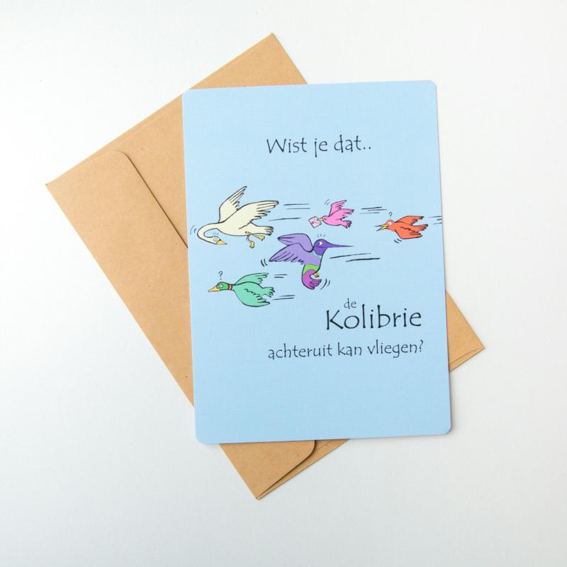 Wist je dat...postkaart Kolibrie