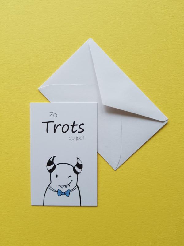 Liefmonster Cadeaukaartje Trots!