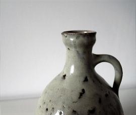 Mobach vintage kan/vaas grijs reductieglazuur