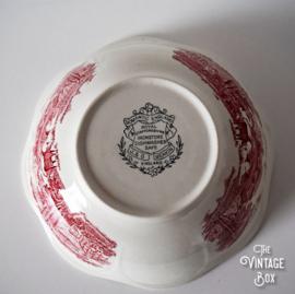 Royal Staffordshire Tonquin Red dekschaal