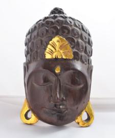 Buddha houten masker