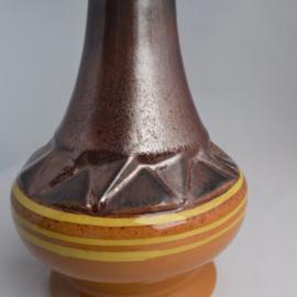 Strehla Keramik vaas met glitters in glazuur
