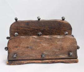 Antieke houten brievenhouder