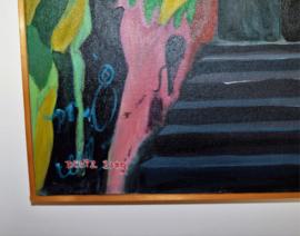 'Top girl!' schilderij Lynda Deutz, 2009, olie op canvas, 80 x 100 cm