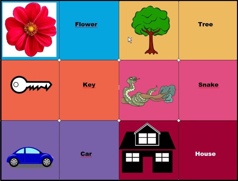 Sjablonen voor maken van eigen (educatieve) memoryspel