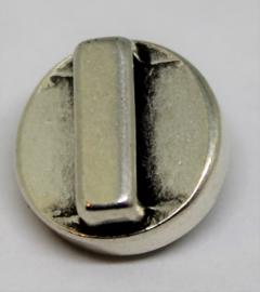 Schuiver met steen helder Ø 15mm