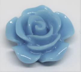 Plak roos blauw Ø 15mm
