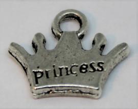 Bedel kroon princess stainless steel 13x11mm