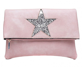 Flipover tas Star Pink