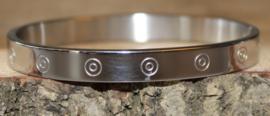 Armband zilver cirkels