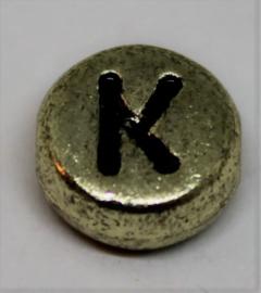 Letterkraal K goud Ø 6mm