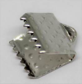 Veterklem zilverkleurig 6mm