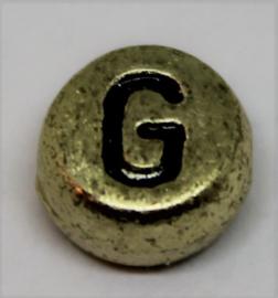 Letterkraal G goud Ø 6mm