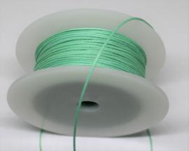Waxkoord katoen 0,5mm bright mint green