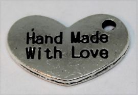Bedel hart handmade with love stainless steel 16x10mm