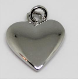 Bedel hart zilverkleurig 15x20 mm