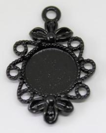 Hanger ornament zwart 20x20mm