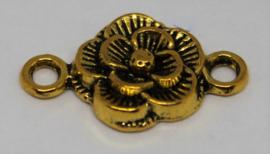 Tussenzetsel bloem goudkleurig 20x12mm