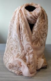 Sjaal baroque Roze