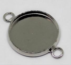 Setting tussenzetsel Ø12mm antiek zilver