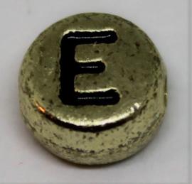 Letterkraal E goud Ø 6mm