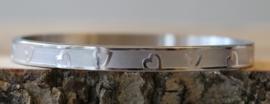 Armband zilver hart