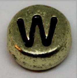 Letterkraal W goud  Ø 6mm
