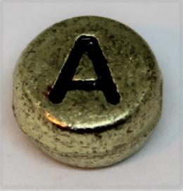 Letterkraal A goud Ø 6mm