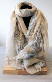 Sjaal slang beige/aqua