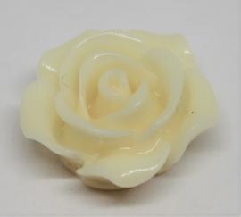 Plak roos crème Ø 15mm
