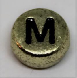 Letterkraal M goud  Ø 6mm