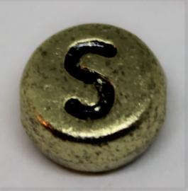 Letterkraal S goud Ø 6mm