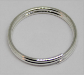Splitring zilverkleurig  Ø 12mm