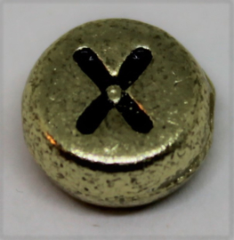 Letterkraal X goud  Ø 6mm