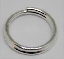 Splitring zilverkleurig Ø 8mm