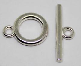 Kapittel sluiting zilverkleurig 14x11 mm