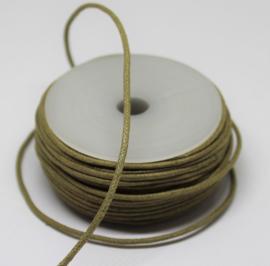 Waxkoord katoen 1,5 mm gold brown