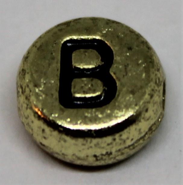 Letterkraal B goud Ø 6mm