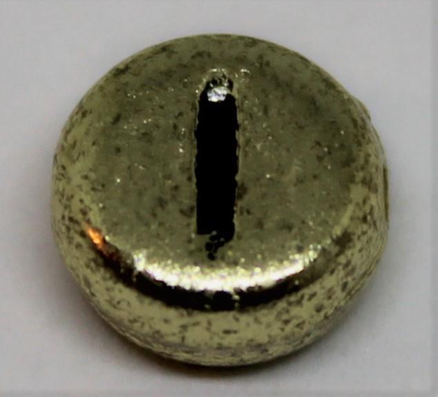 Letterkraal I goud  Ø 6mm