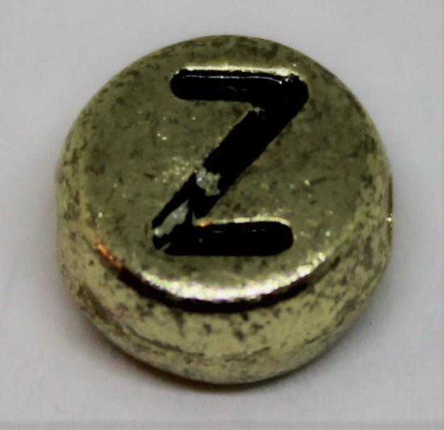 Letterkraal Z goud Ø 6mm