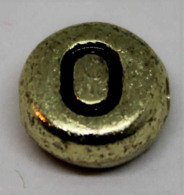 Letterkraal O goud Ø 6mm